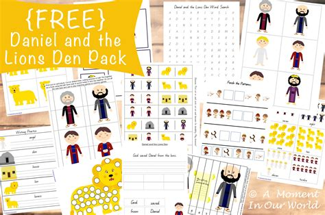 free daniel and the lions den pack free homeschool deals 391 | cap97
