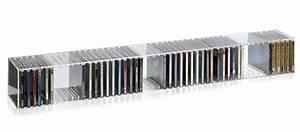 Cd Aufbewahrung Design : hochwertiger acryl glas cd blu ray st nder wandregal mit ~ Sanjose-hotels-ca.com Haus und Dekorationen