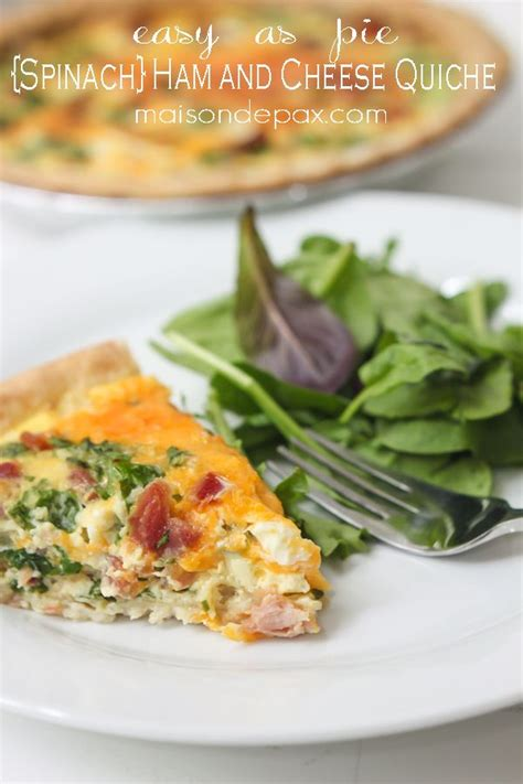 cheese spinach ham breakfast spinach ham and cheese quiche recipe cheese quiche quiches and hams