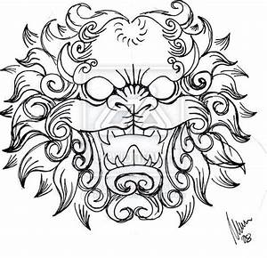 Foo dog head -sketch- by dfmurcia on DeviantArt | Tattoos ...
