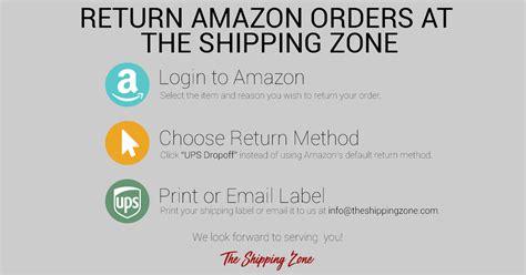 amazon returns  easy  shipping zone