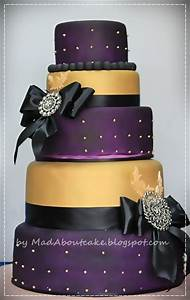 Mad About Cake: Deep purple and Gold Wedding Cake, Be BOLD