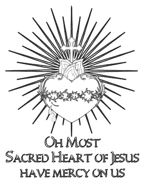 Life, Love, & Sacred Art: FREE Sacred Heart of Jesus Coloring Page | Catholic/Religious Ed
