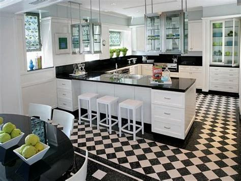 kitchen and floor decor black and white kitchen flooring your home