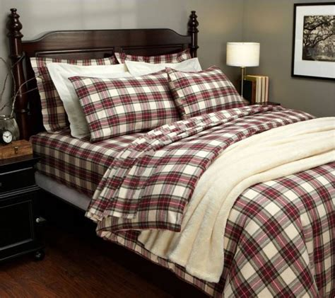 plaid duvet covers tartan bedding for winter
