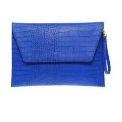 bag bright clutch cobalt blue envelope neon purse wallet