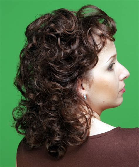 weavon hair styles medium curly formal hairstyle chocolate hair color 9078
