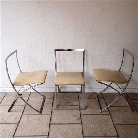 chaises pliantes design cunéo marcello steiner suite de 2 chaises pliantes vers