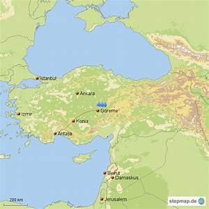 Reise Nach Türkei : stepmap reise nach kappadokien landkarte f r t rkei ~ Jslefanu.com Haus und Dekorationen