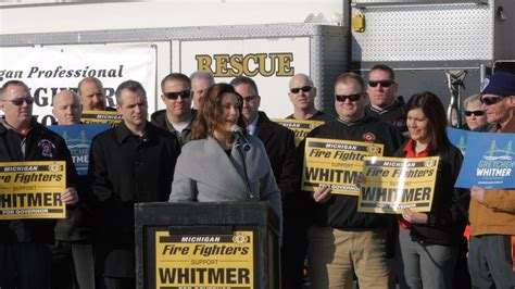 Mich Firefighters endorse Gretchen Whitmer for Governor
