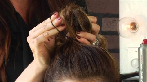how to do an easy cute updo hairstyle for sports mane
