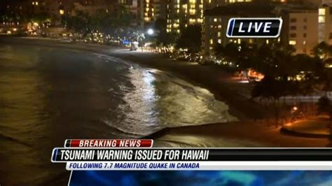 tsunami wave hits hawaii coast itv news