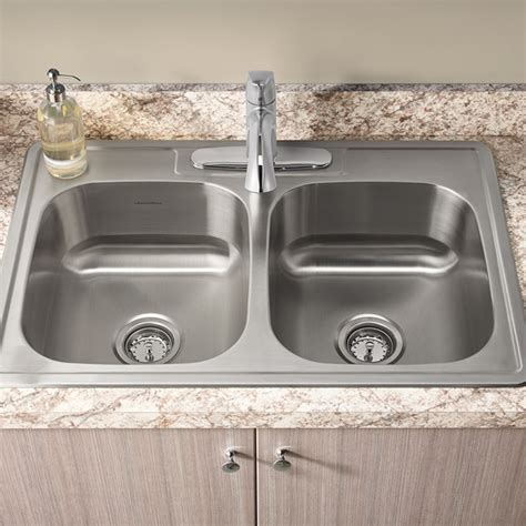 Colony Ada 33x22 Double Bowl Kitchen Sink Kit  American