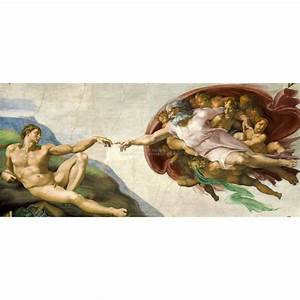 Michelangelo Creation of Adam full size Panorama by ...