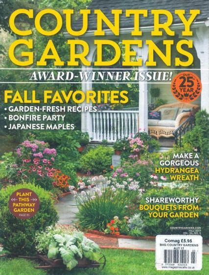 gardening magazine subscription bhg country gardens magazine subscription