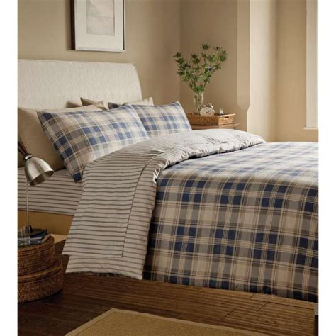 navy duvet cover buy catherine lansfield tartan navy bedding