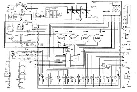 volvo 850 1996 wiring diagrams instrumentation