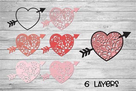 I first saw 3d mandalas in some crafter groups that i am in. Valentines SVG | 3d Layered SVG Heart Mandala | Cut File ...