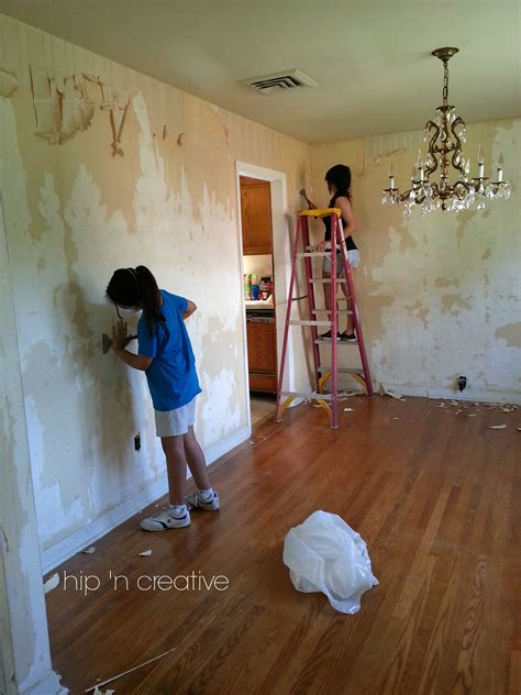 diy wallpaper removal  worked   hip  creative