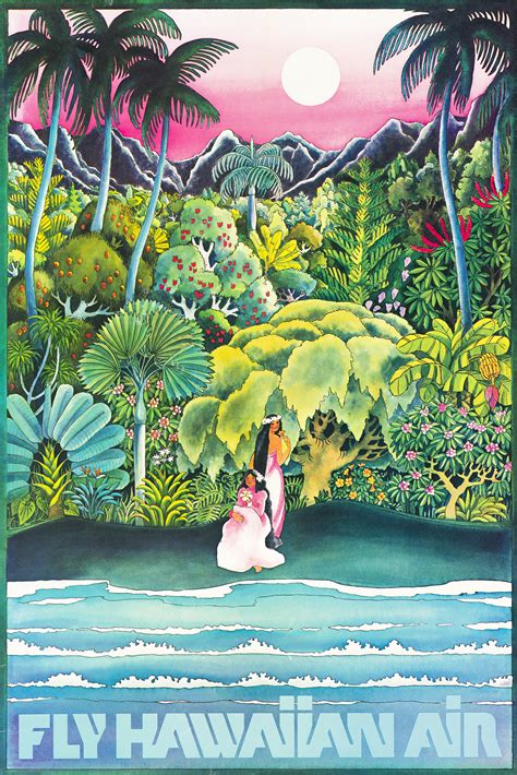 Hawaiian Airlines Travel Poster