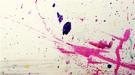 Rainbow Paint Splatter Abstract Background Wallpapers