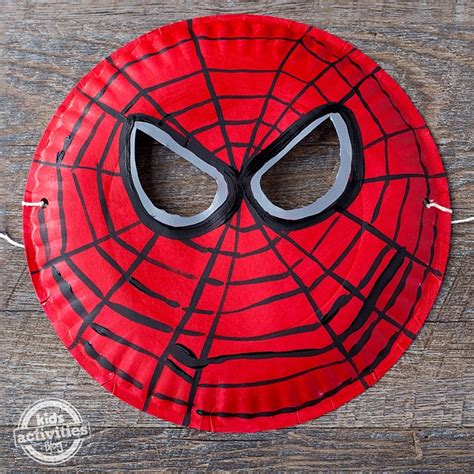 easy   paper plate spider man mask kids activities