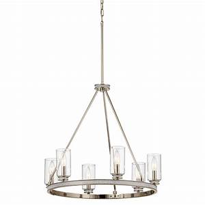 Shop Kichler Angelica 24-in 6-Light Polished nickel with