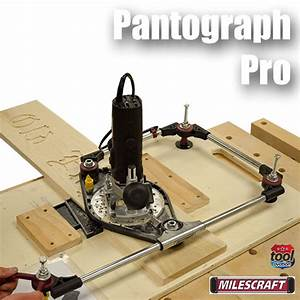 milescraft pantograph pro With router lettering kit