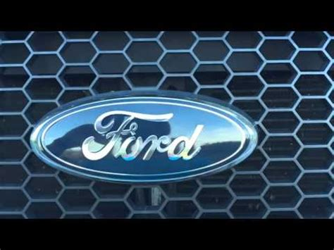 ford   front grill emblem replacement youtube