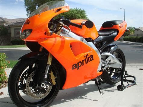 orange dream  aprilia rs  sale rare sportbikes  sale