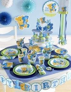 Deko Für 1 Geburtstag : 1 geburtstag blauer teddy jungen party deko ideen erster geburtstag 1 geburtstag junge ~ Buech-reservation.com Haus und Dekorationen