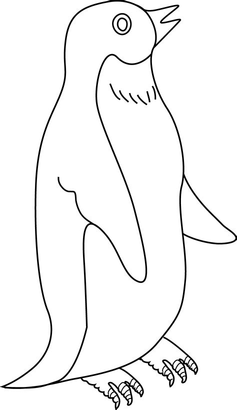penguin clipart black and white penguin coloring page 3 free clip