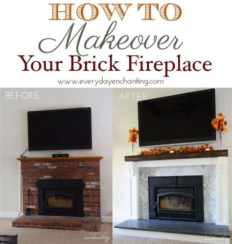 how to update a brick fireplace best 25 brick fireplace remodel ideas on