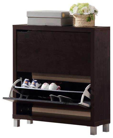 simms dark brown shoe cabinet modern shoe storage