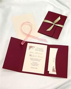 burgundy pocket folder wedding invitations burgundy With burgundy wedding invitations kits