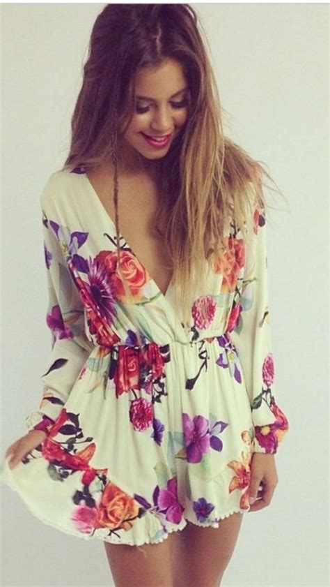 Short Floral Dress With Long Sleeves Beauty And Health