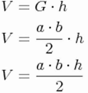 Volumen Eines Dreiecks Berechnen : volumen ~ Themetempest.com Abrechnung