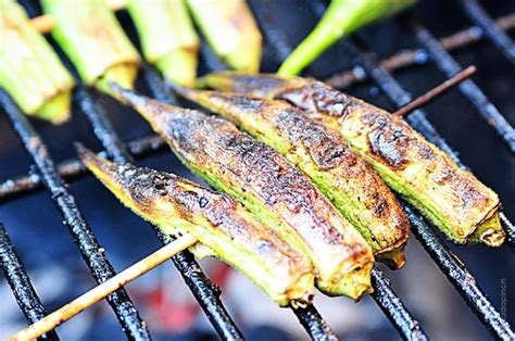 how to grill okra grilled okra recipe add a pinch