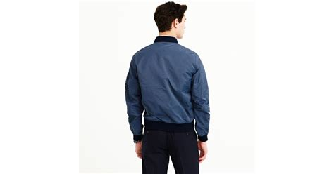 J.crew Wallace & Barnes Ma-1 Bomber Jacket In Blue For Men