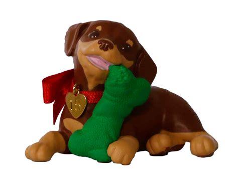 puppy love hallmark keepsake ornament hooked