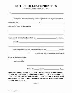 10 best images of free ohio eviction notice template 30 With 3 day eviction notice florida template