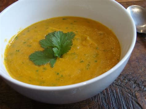 Carrot And Lentil Soup, With Coriander