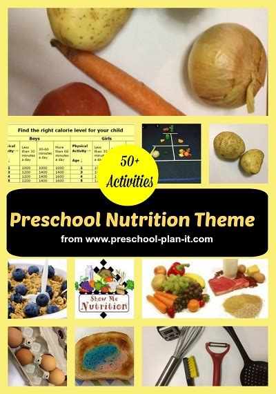 the singing health lessons for 217 | preschool nutrition theme collage