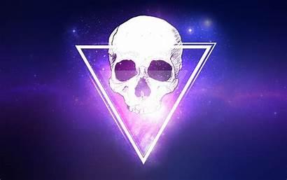 Purple Triangles 4k Skull Triangle Wallpapers 8k