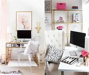 Bureau Chambre Ado Fille : d co chambre fille ado en rose or et compagnie en quelques id es chics ~ Dallasstarsshop.com Idées de Décoration