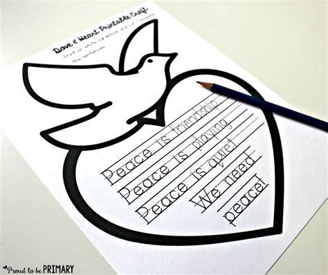 dove peace foldable writing craft