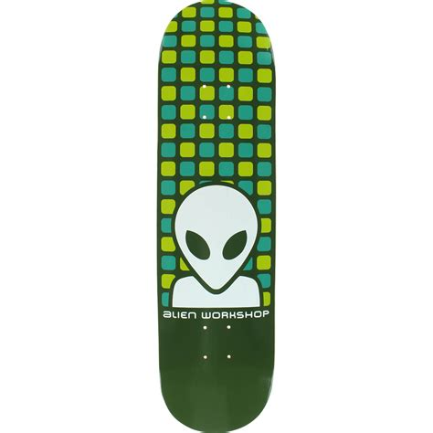 alien workshop matrix green skateboard deck