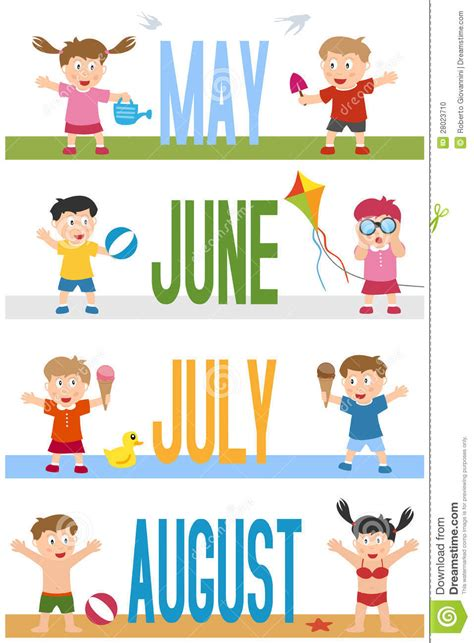 months banners  kids  stock vector image