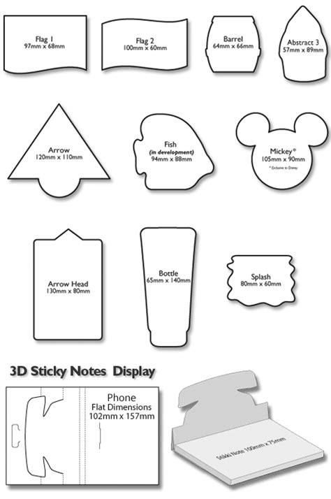 shelf talker template sticky notes die cut sticky notes