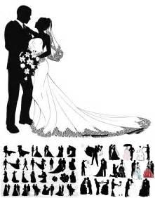 Wedding couple silhouettes vector | Flock, flex & vinyl ...